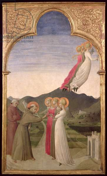 The Mystic Marriage of St. Francis with Chastity, Poverty and Obedience, 1437-44 (oil on panel)
