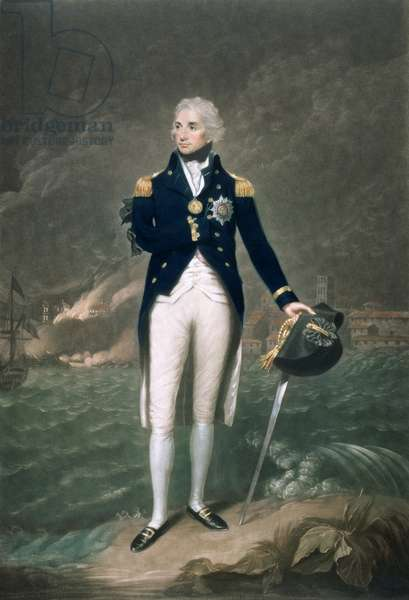 Sir Horatio Nelson, K.B., Rear Admiral of the Blue, engraved and published by William S. Barnard (1774-1849), pub. 1798 (coloured litho)