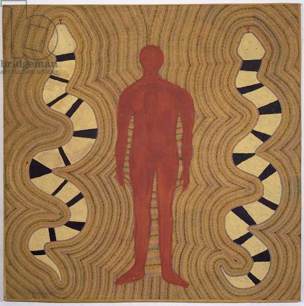Snake Dreaming, 1988 (acrylic)
