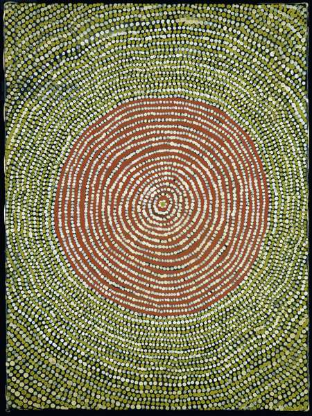 Untitled (concentric circles) 1984 (acrylic)