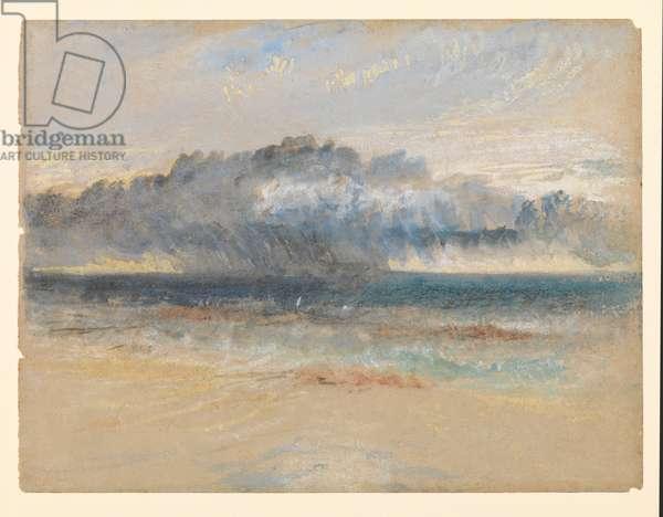 Storm on Margate Sands, c.1835-40 circa (w/c, gouache & chalk)