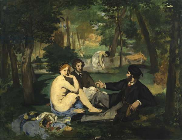 Dejeuner sur l'Herbe, c.1863-1868 (oil on canvas) (see also 2310)