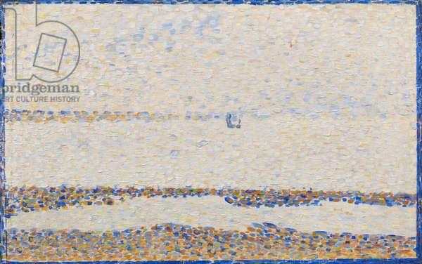 Beach at Gravelines, 1890 (oil on panel)