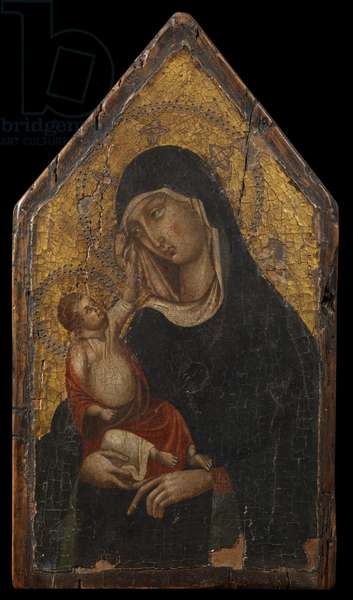 Virgin and Child, forgery in the manner of Duccio di Buoninsegna (1255-1319), 1875-1925 (oil on panel)