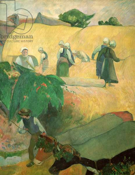 The Haystacks, 1889 (oil on canvas)