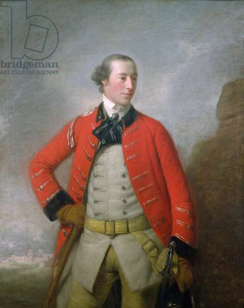 Portrait of Captain Sir William-Peer Williams, Baronet, of the 16th Light Dragoons, c.1759 (oil on canvas)