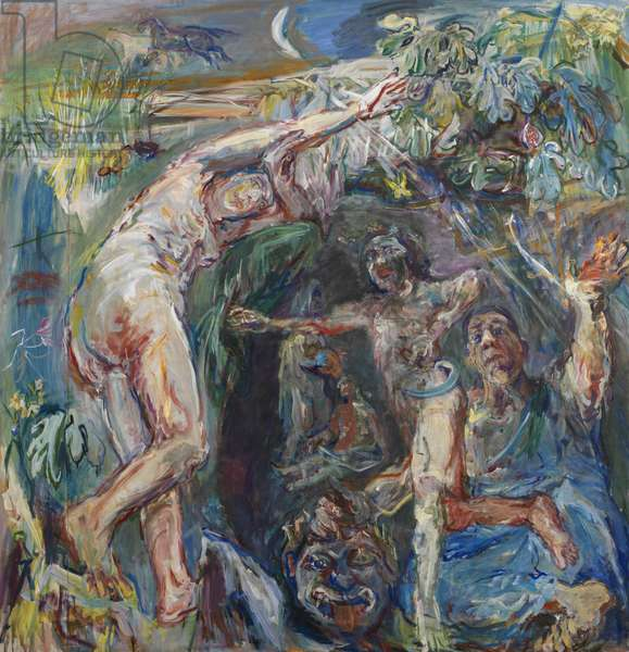 Triptych - Hades and Persephone, 1950 (mixed media on canvas) (see also 65753-65754)