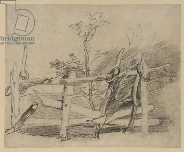 Study of an old hurdle, 1755-59 (graphite on paper)