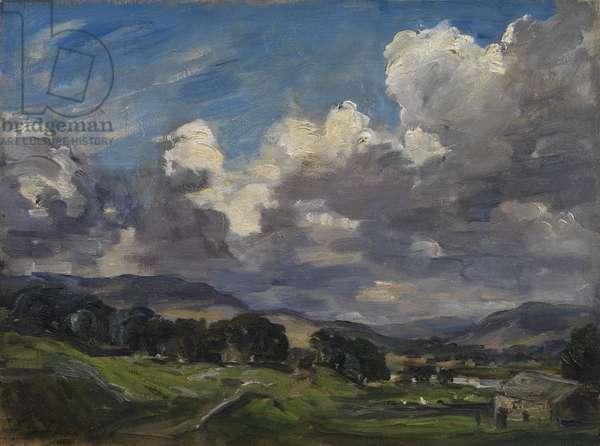 Hawes, Wensleydale, c.1900-10 (oil on canvas)