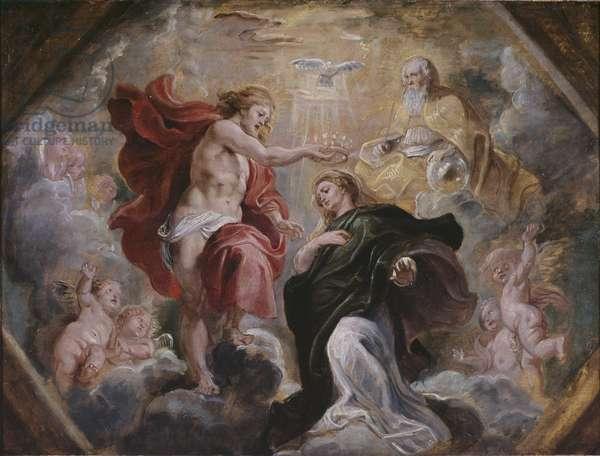 Coronation of the Virgin, c.1613-20 (oil on panel)