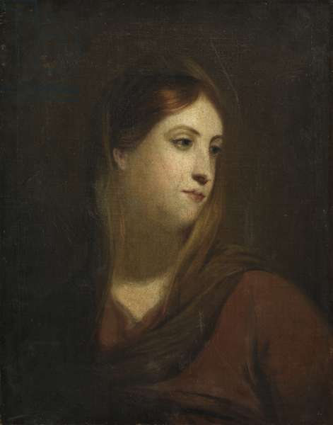 Sketch for a Female Head, c.1800 (oil on canvas)