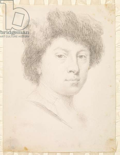 Self-portrait at the age of thirty, 1735 (pencil on parchment)