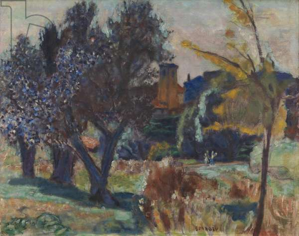 Landscape with Olive Trees and a Chapel, c.1924 (oil on canvas)