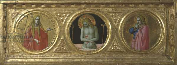 Christ as Man of Sorrows flanked by Saint Mary Magdalene and Saint John the Evangelist (centre panel), 1420-29 (tempera on panel)