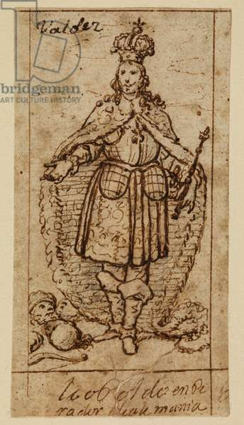 Leopold I, Holy Roman Emperor, 17th century (black chalk, pen and brown ink on laid paper with brown ink framing lines)