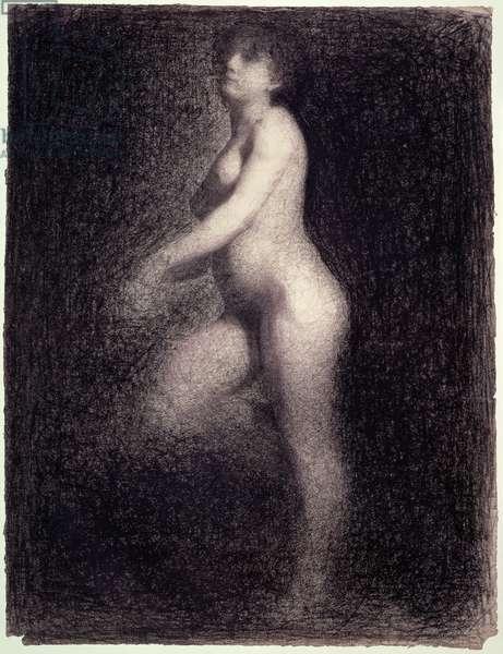 Nude, c.1881-82 (pencil & crayon)