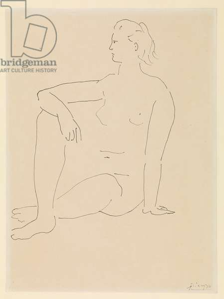 Femme assise (Seated woman), c.1923 (pen & black ink on paper)
