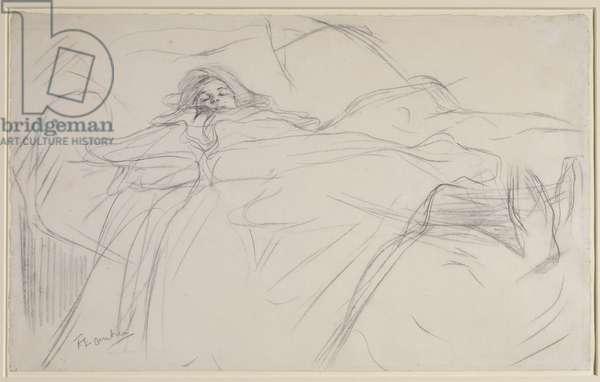 Au lit, c.1896 (pencil & black chalk on laid paper)