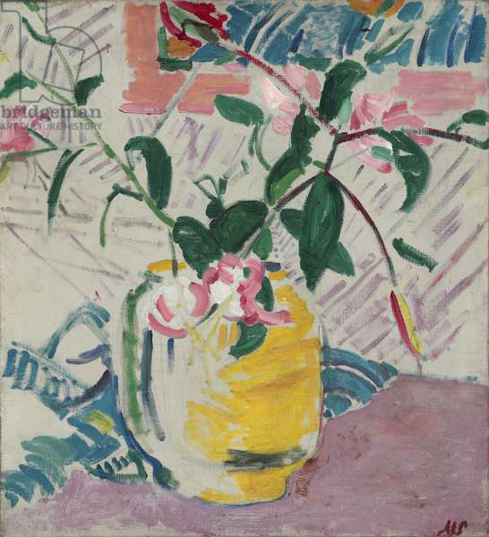 Lilies in a Jar, 1914 (oil on canvas)