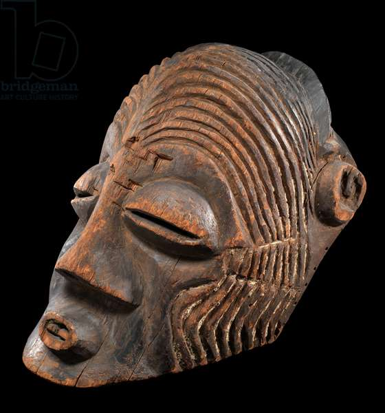 African dancing mask from Ulivira, Lake Tanganyika, lateral view (wood) (see also 122355)