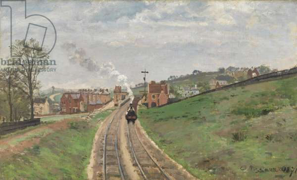 Lordship Lane Station, Dulwich, 1871 (oil on canvas)