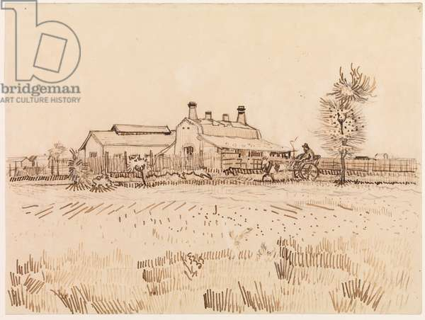 A tile factory, 1888 (March) (pen and brown ink over pencil on wove paper)