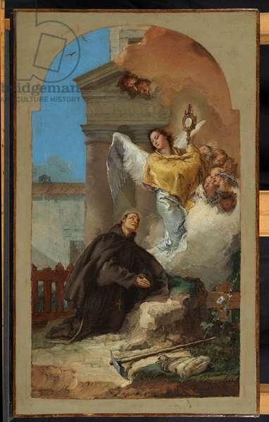 Saint Paschal Baylon's Vision of the Eucharist, 1767 (oil on canvas)