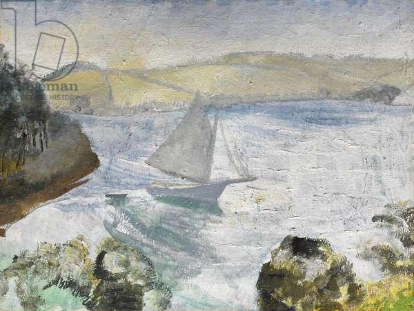Estuary, 1928 (oil on canvas)