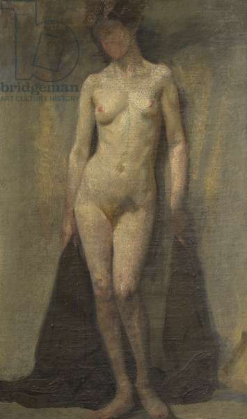 Standing Female Nude (recto), c.1910 (oil on canvas)