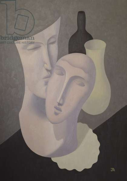 Two Masks, c.1928 (oil on canvas)