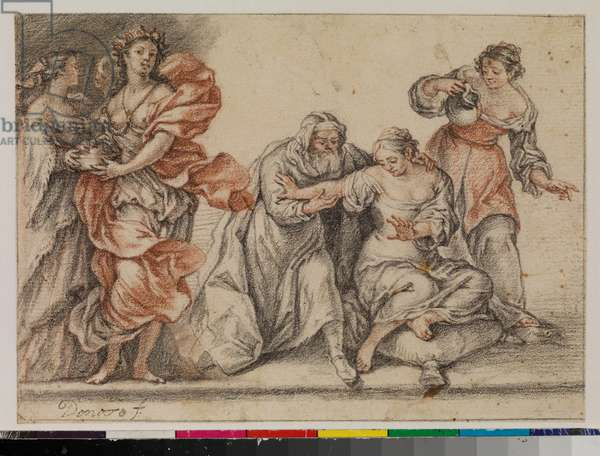 Allegorical subject, 17th century (pen & brown ink over traces of graphite, on laid paper)