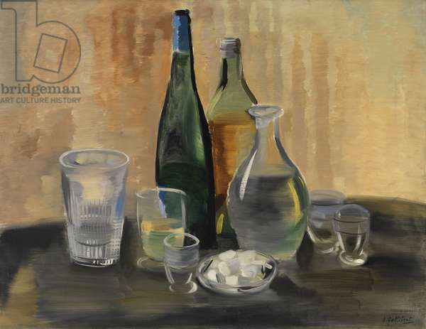Still Life with Glass Objects, c.1929? (oil on canvas)