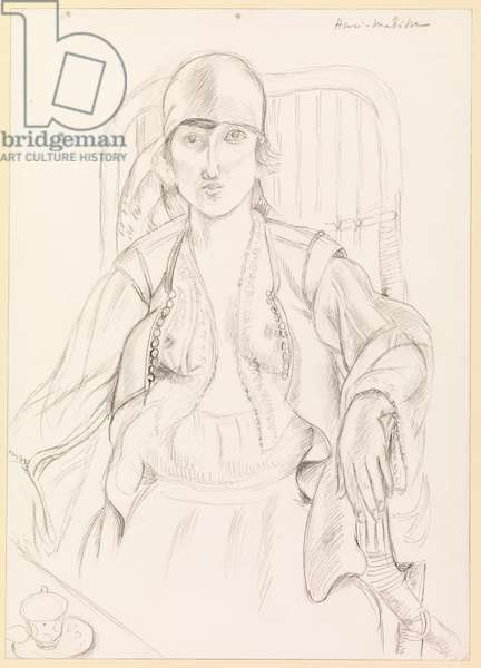 Seated woman, 1919 (pencil on wove paper)