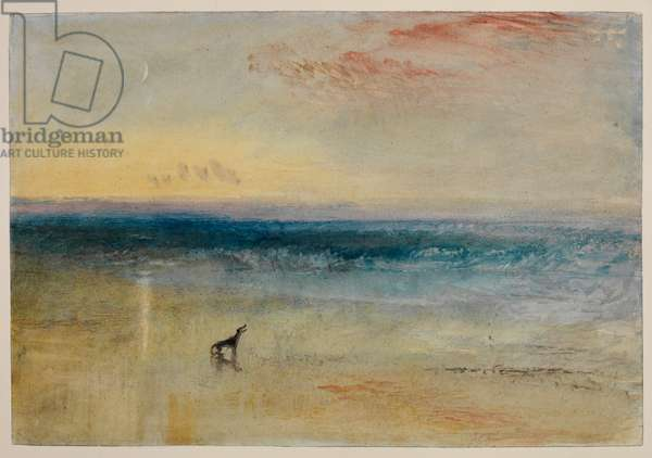 Dawn after the Wreck, c.1841 (pencil, w/c, bodycolour, red chalk & scraping on paper)
