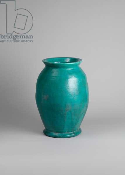Turquoise vase, c.1914 (stoneware with turquoise glaze)