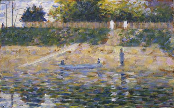 Boat by the Riverbank, c.1883 (oil on panel)