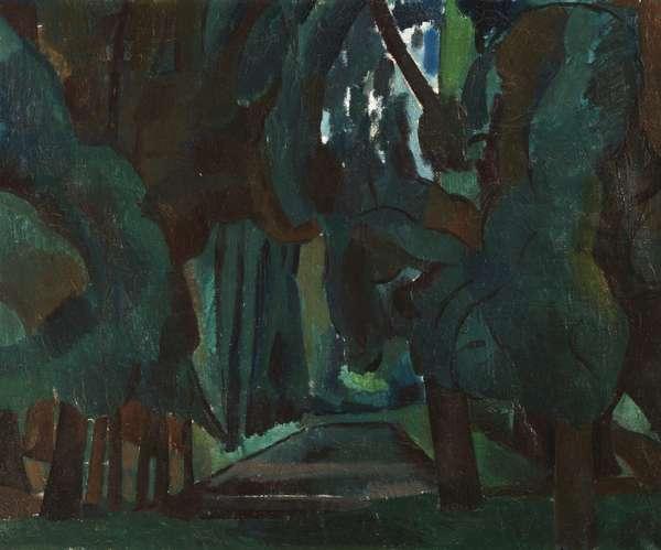 Trees by a Lake, Le Parc de Carrières-St-Denis, 1909 (oil on canvas)