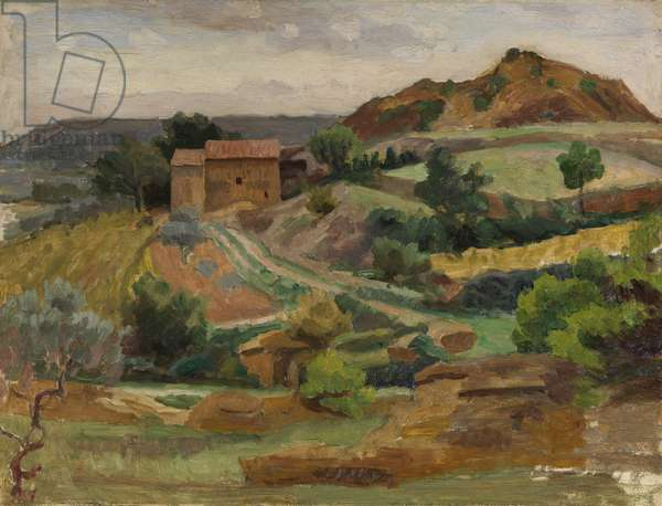 Beaumes, c.1930 (oil on millboard)