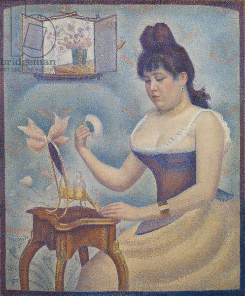 Young Woman Powdering Herself, c.1888-90 (oil on canvas)