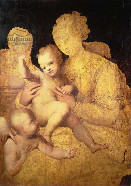 Holy Family with St. John the Baptist, 1528-37 (oil on panel)