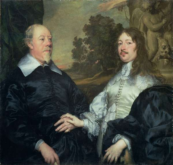 Portrait of an Old and a Younger Man (John Taylor and John Denham), 1643 (oil on canvas)