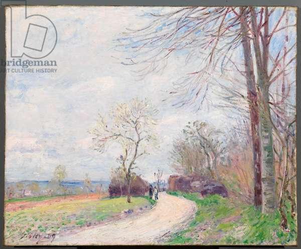Le Chemin des Buttes (au Printemps), 1889 (oil on canvas)
