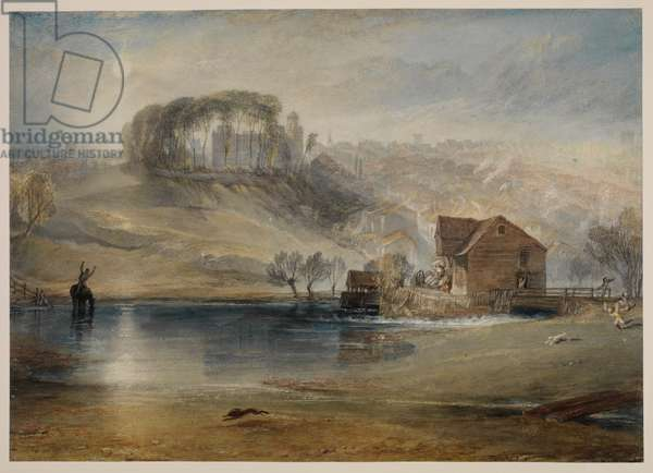 Colchester, Essex, c.1825-26 (pencil, w/c, bodycolour & scraping on wove paper, now laid down on Japanese tissue)