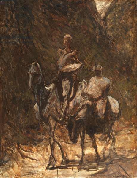 Don Quixote and Sancho Panza, 1868-1872 (oil on canvas)