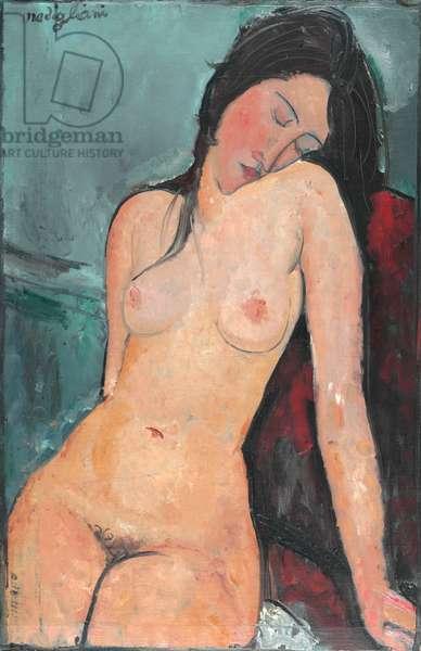 Female Nude, c.1916 (oil on canvas)