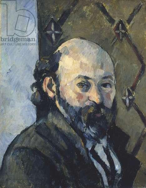 Copy after a Self-Portrait by Cezanne, 1925 (oil on cardboard)