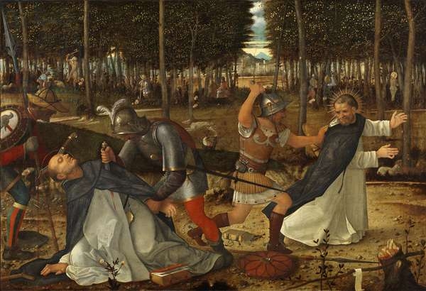 The Assassination of St. Peter Martyr, c.1509 (oil on panel)