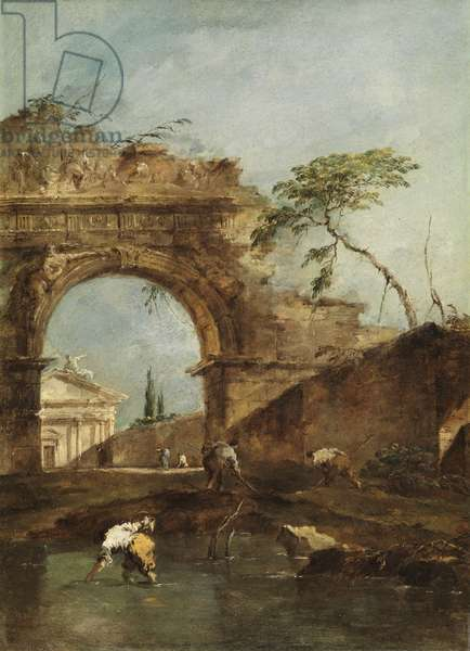 Landscape - Capriccio, c.1780 (oil on canvas)