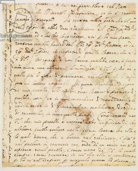 Manuscript letter (verso), 1636 (pen & ink on paper) [see also 5934409]