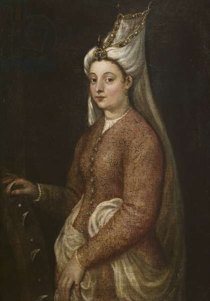 Cameria, daughter of Suleiman the Magnificent, as Saint Catherine, c.1560 (oil on canvas)